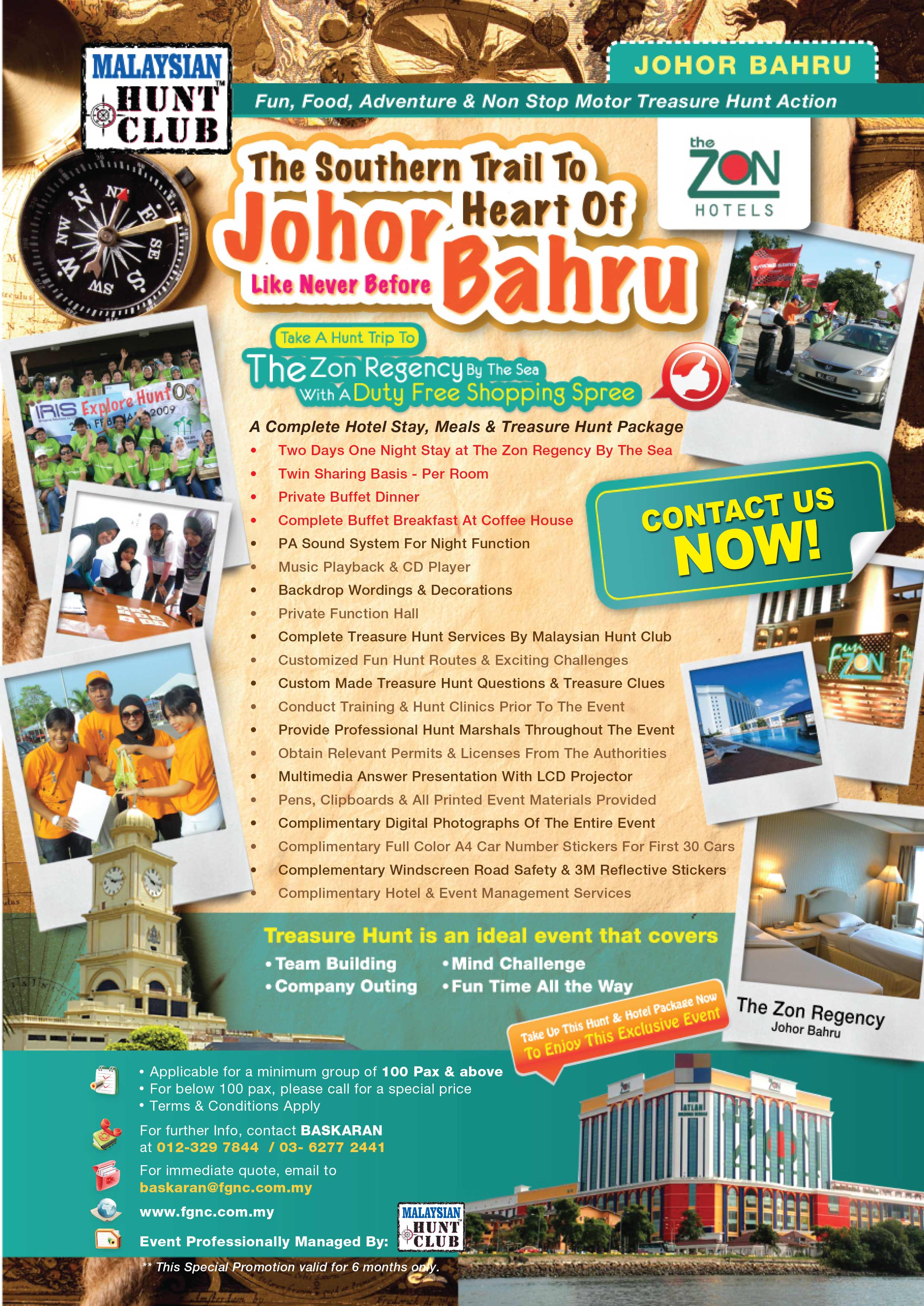 Treasure Hunt Event Packages & Promotion in Malaysia - Malaysian